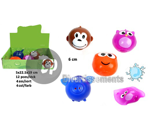 balle splatch animal MIX 6cm