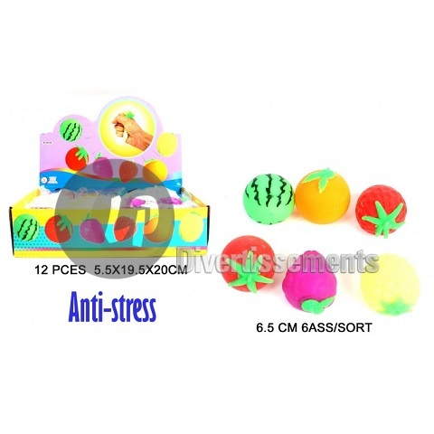 balle anti-stress fruit MIX 6.5cm