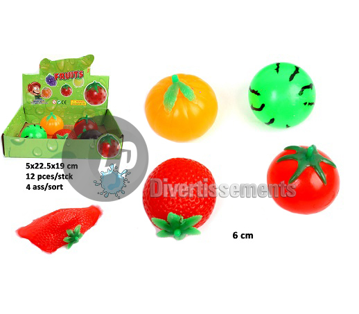 balle splatch fruits MIX 6cm