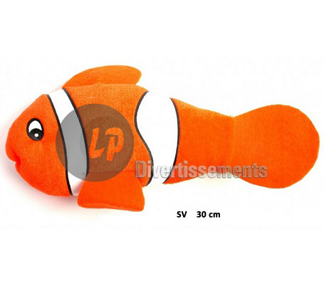 peluche poisson clown 30cm