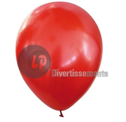 lot de 100 ballons latex 40cm METALLISES ROUGE