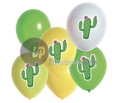 lot de 6 ballons de fête cactus MIX