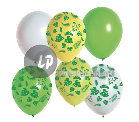 lot de 6 ballons de fête jungle MIX