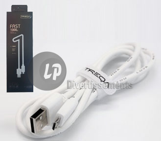 cable USB universel charge rapide pour Androïd 1m