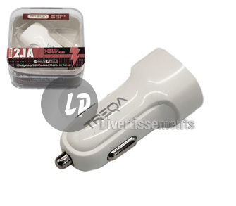 chargeur allume cigare double USB pour voiture