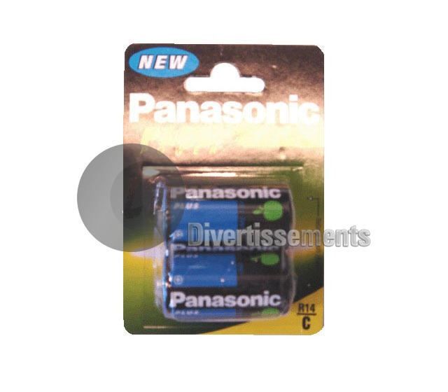 lot de 2 piles LR14 PANASONIC