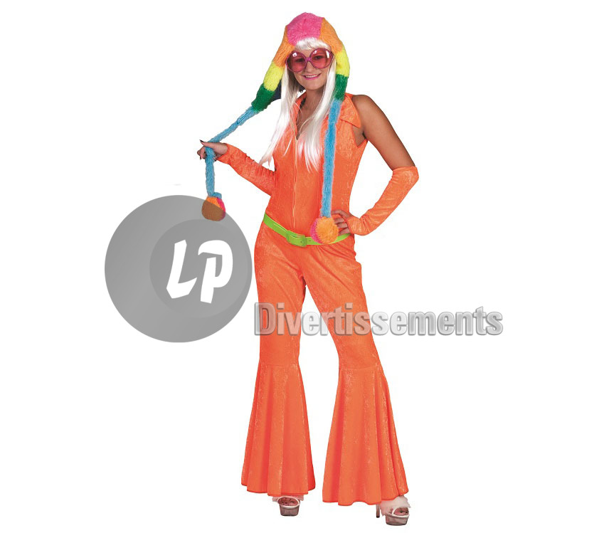 combinaison flashy ORANGE femme Taille L