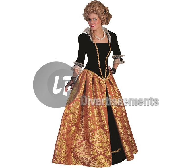 robe BAROQUE Marie-Christina ORANGE femme Taille XXL