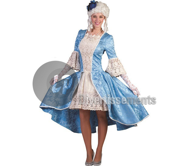 robe ROCOCO Louise BLEU femme Taille L