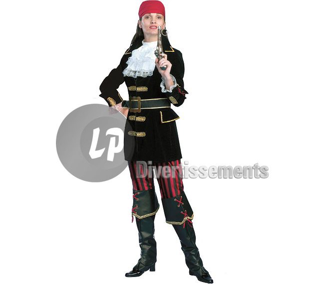 déguisement CAPITAINE PIRATE femme Taille L