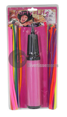 Set von 50 Ballons<br> mit Pumpe 28cm<br>Modellierung (bl