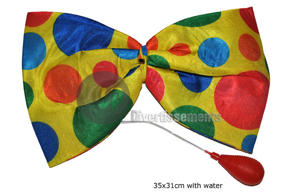 noeud papillon de clown avec gicleur