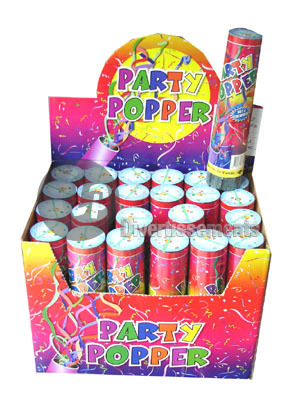 bombe � confettis de table Popper 20cm