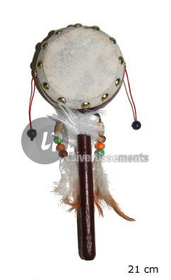 Indian Tamburin<br>mit Griff