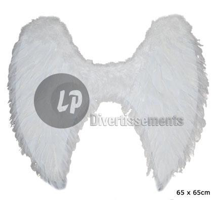 ailes d'ange plumes moyenne BLANC new 65cm