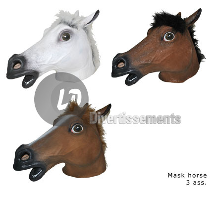 masque latex tete de cheval