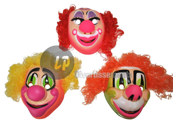 masque coque de clown