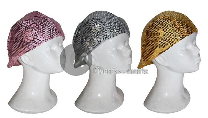 béret à sequins OR