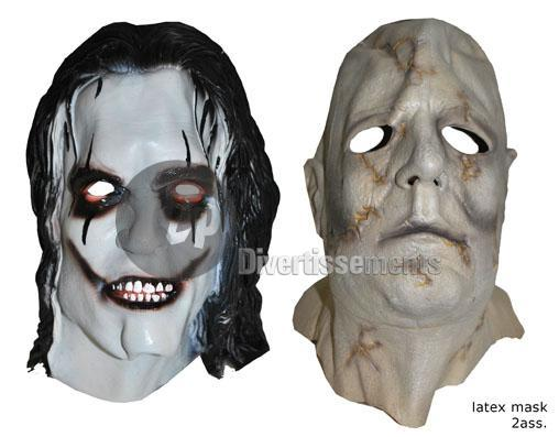 latex mask bald zombie