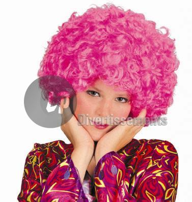 perruque hippy afro PINK
