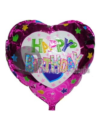 happy birthday<br> balloon 45cm<br>aluminum