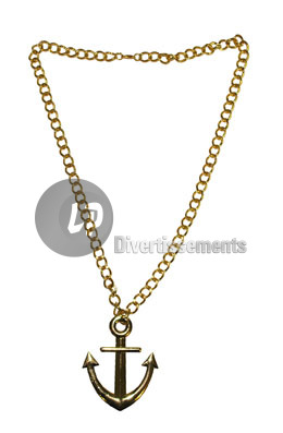 collier m�tallique ANCRE OR