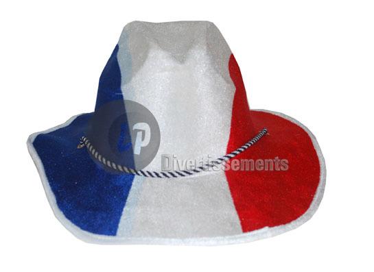 France cowboy hat<br>red white blue