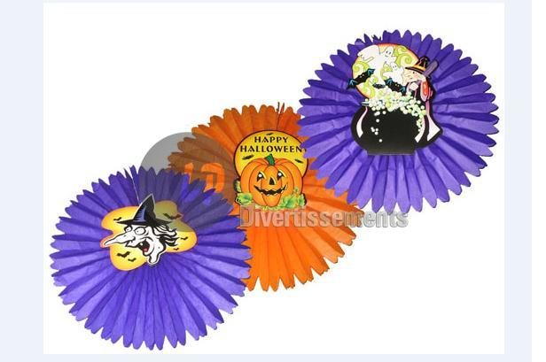 lot de 3 rosaces Happy Halloween 50cm