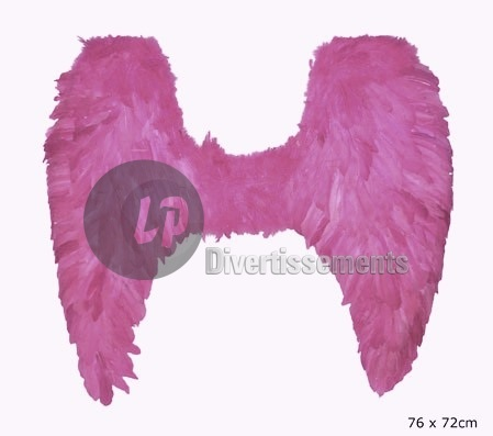 ailes d'ange plumes GRANDE ROSE 76cm