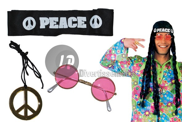 set peace & love bandeau lunettes & collier