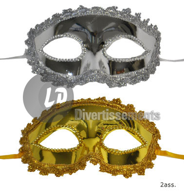 masque dentelles et strass OR
