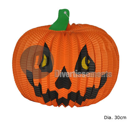 lampion citrouille Halloween 30cm