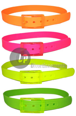 ceinture plastique fluo jaune 1a00f92f1ba