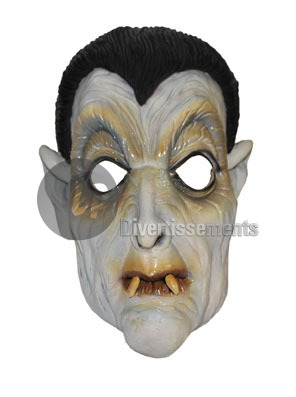 masque latex de vampire