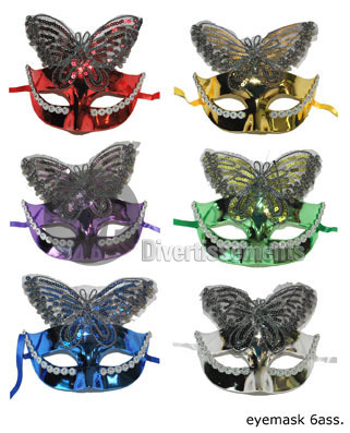 masque avec papillon strass MIX