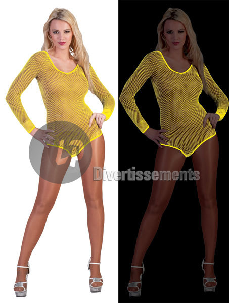 Body filet JAUNE néon fluo