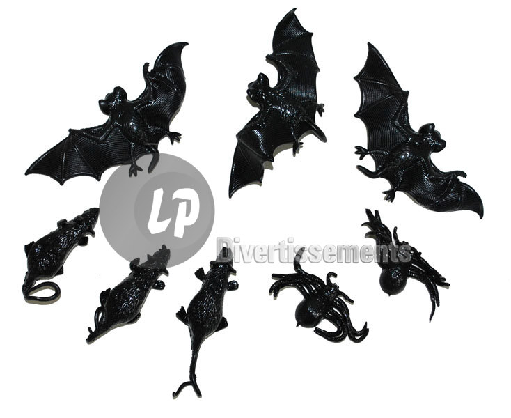 lot de 8 assortiments halloween 5cm