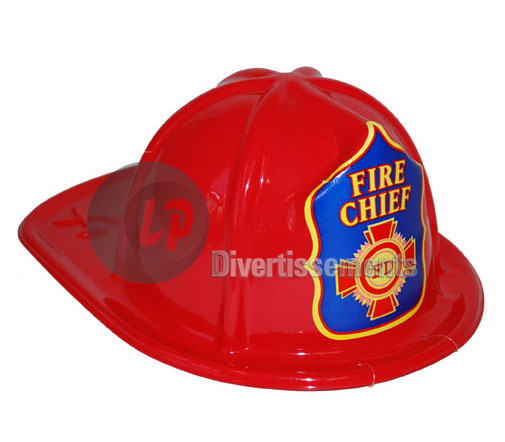 casque de pompier FIRE CHIEF FD ROUGE