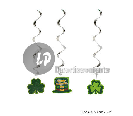 lot de 3 suspensions Saint Patrick 58cm