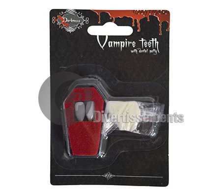dents de vampire avec colle