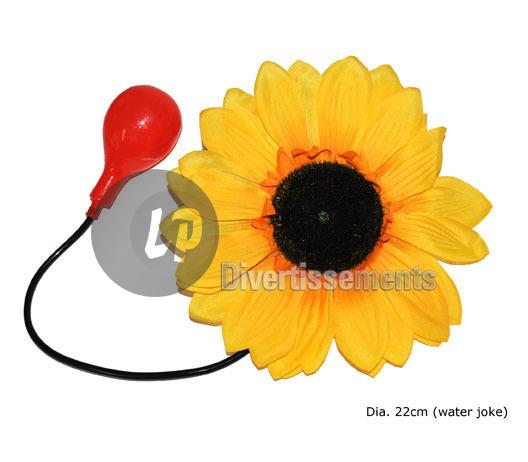 fleur gag lance-eau de clown