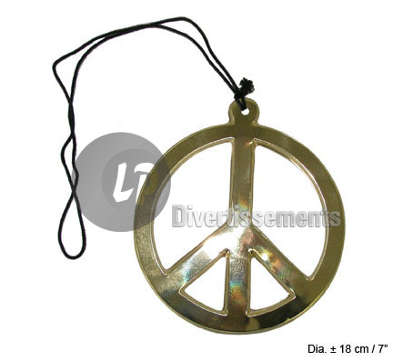 collier peace & love 18cm