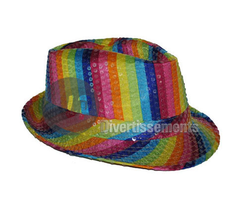 chapeau Tribly à sequins MULTICOLORE