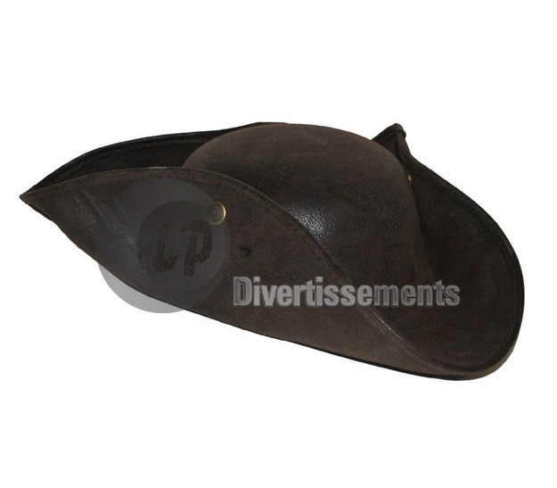chapeau tricorne pirate imitation cuir new