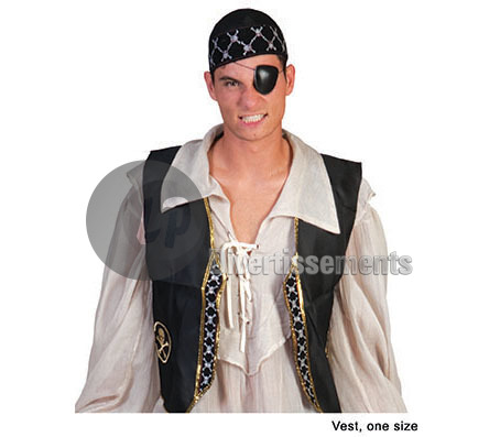veste de pirate Taille unique