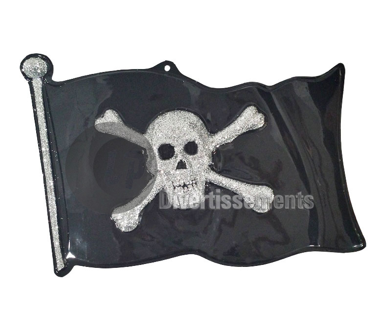 décoration murale drapeau pirate 44cm