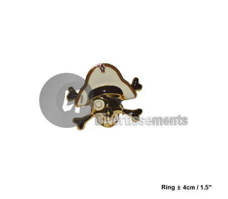 bague pirate BLANC