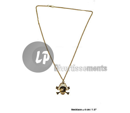 collier pirate BLANC