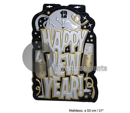 "décoration murale ""Happy new year"" 53cm"