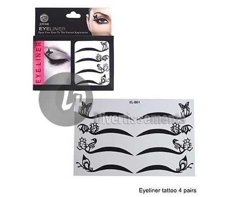 lot de 4 tatouages style eye-liner